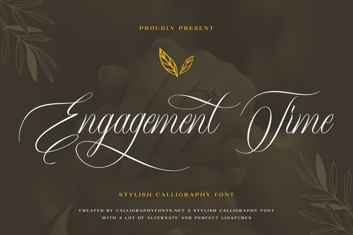 Engagement Time Calligraphy Font -1