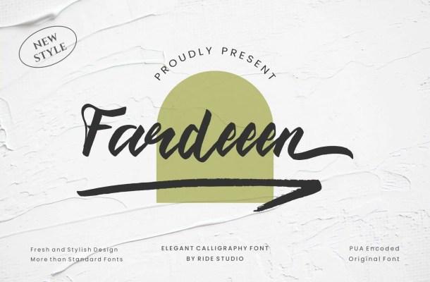 Fardeeen Font