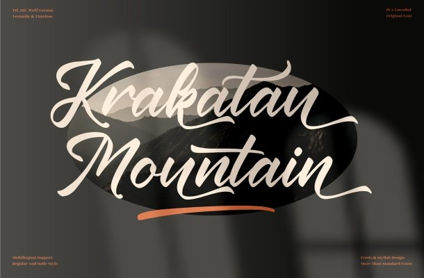 Krakatau Mountain Font