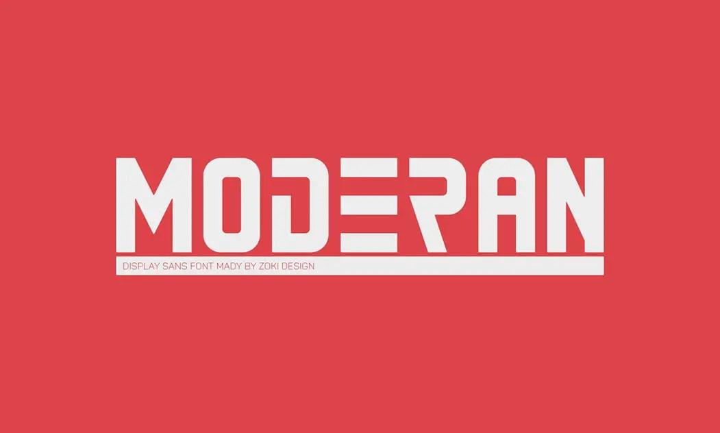 Moderan Display Font -1