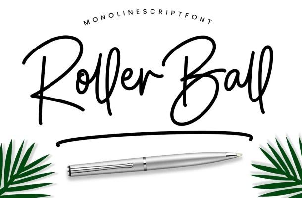 Roller Ball Font