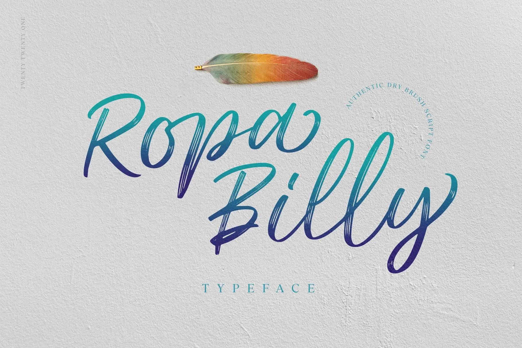 Ropa Billy Brush ScriptFont -1