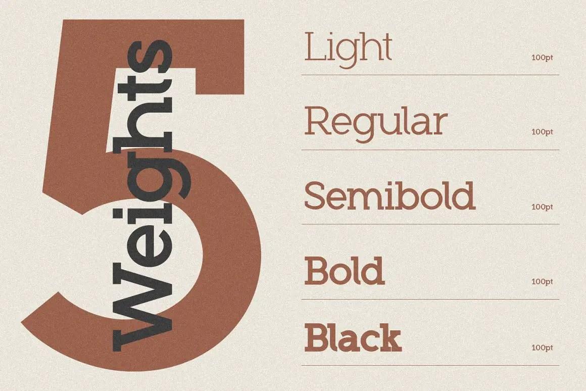 Roseau Slab Serif Font -2
