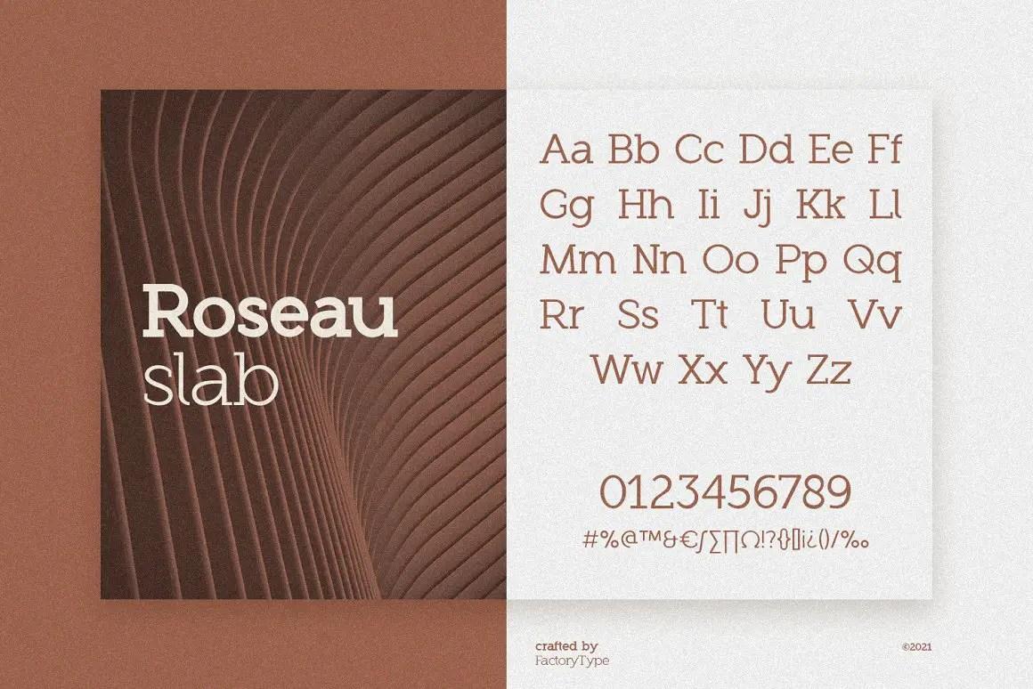 Roseau Slab Serif Font -3