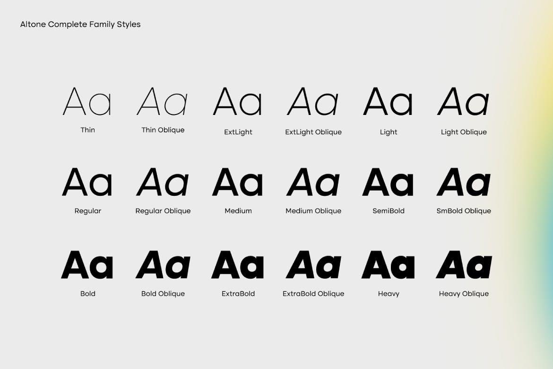 Altone Sans Serif Font Family -3