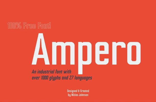 Ampero Font Family