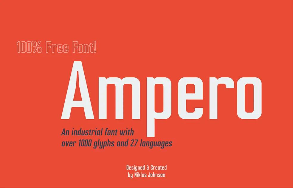 Ampero Bold Sans Font -1