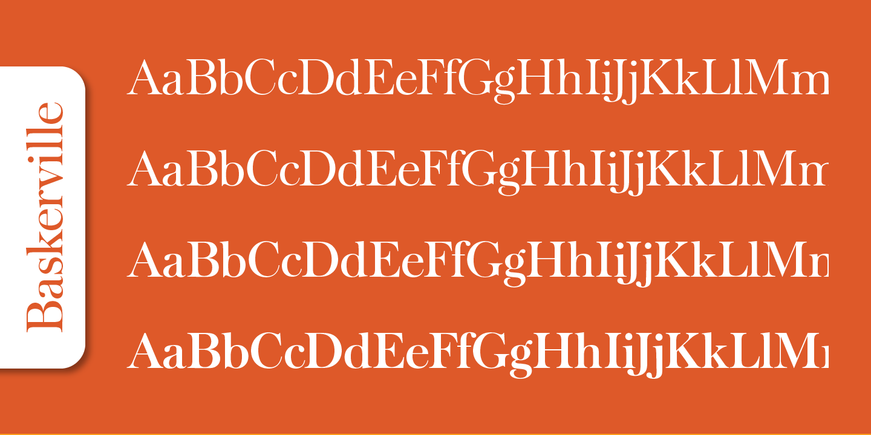 Baskerville Serial™ Serif Font -2