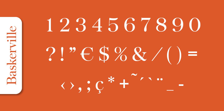 Baskerville Serial™ Serif Font -4