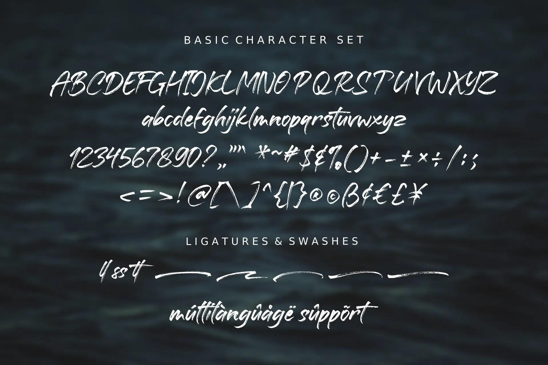 Battaghorse Handbrush Font -3