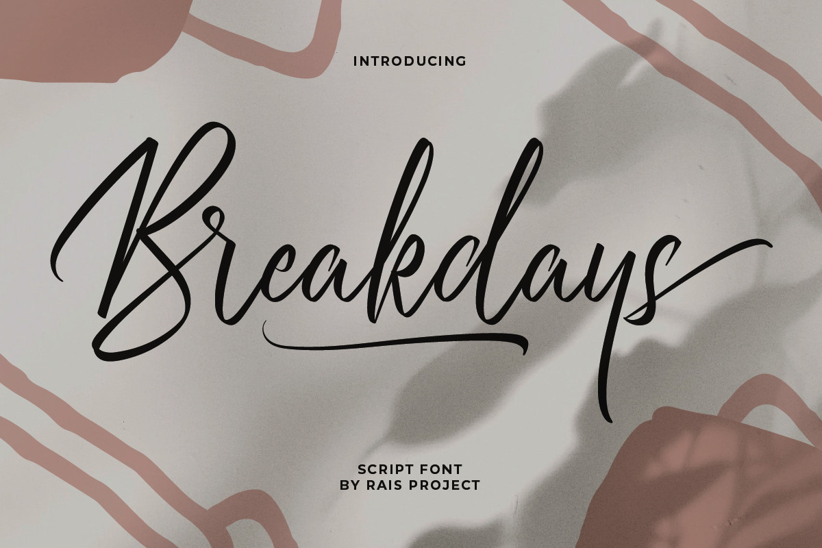 Breakdays Handwritten Font -1