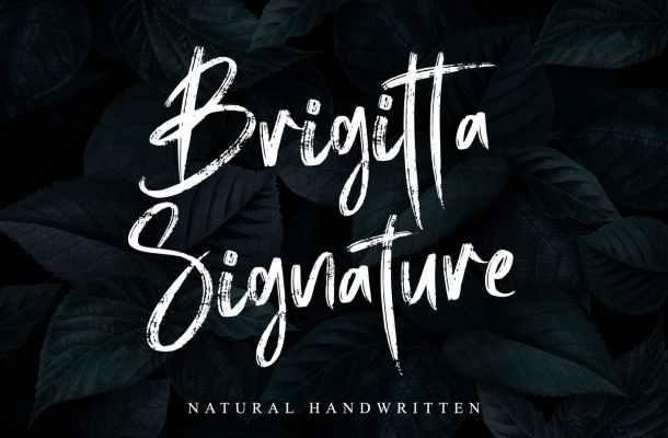 Brigitta Signature Font