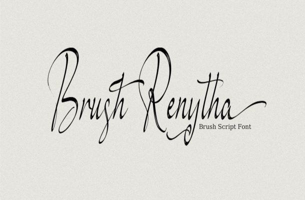 Brush Renytha Font