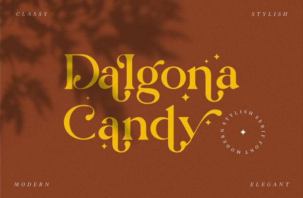 Dalgona Candy Font