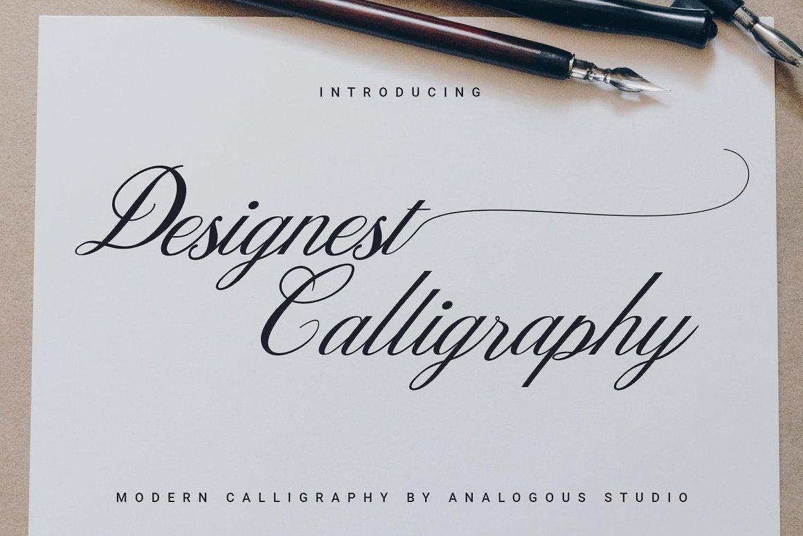 Designest Modern Calligraphy Font -1