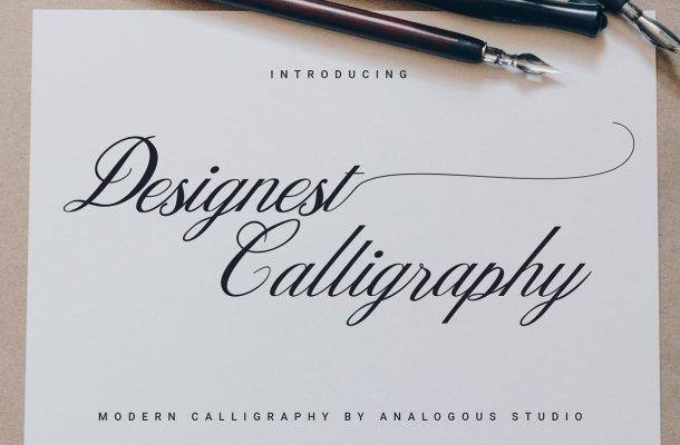 Designest Calligraphy Font
