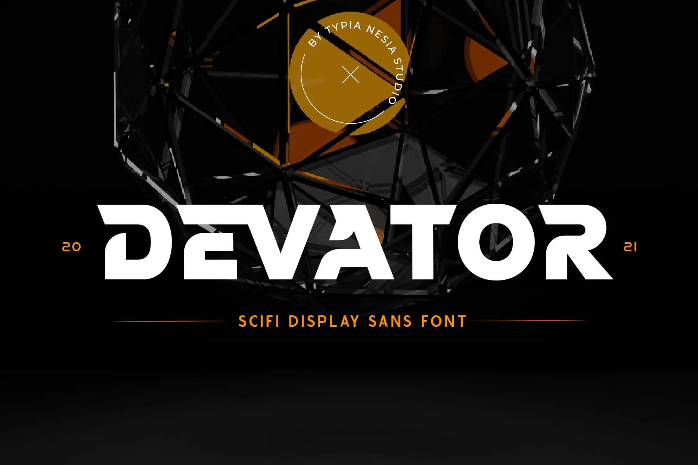 Devator Modern Display Font -1