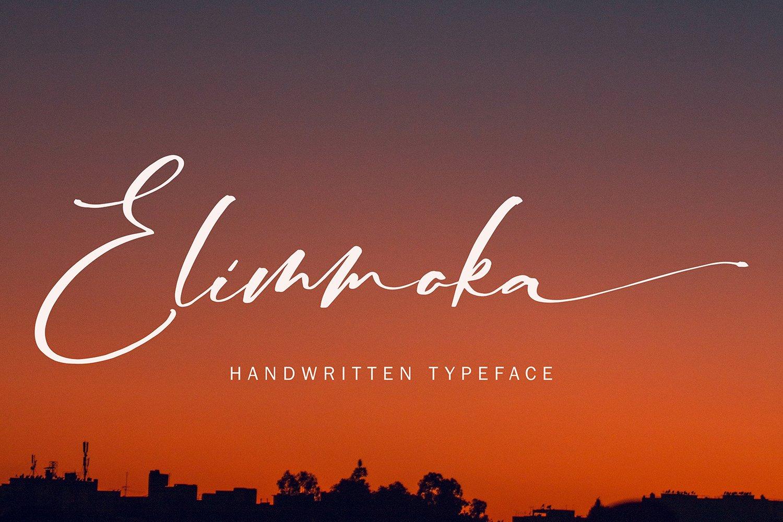 ElimmokaModernScript Font -1