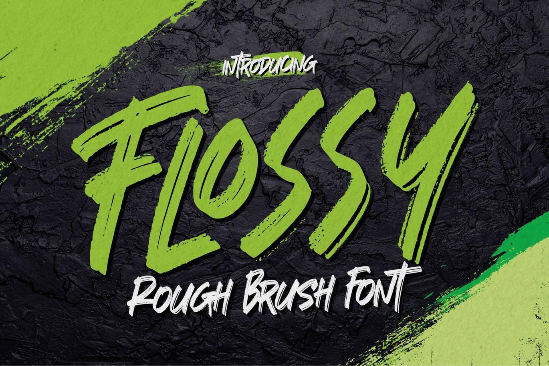 Flossy Rough Brush Font -1