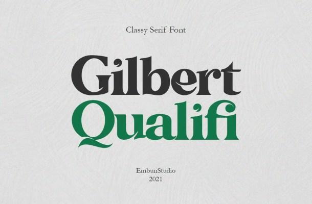 Gilbert Qualifi Font
