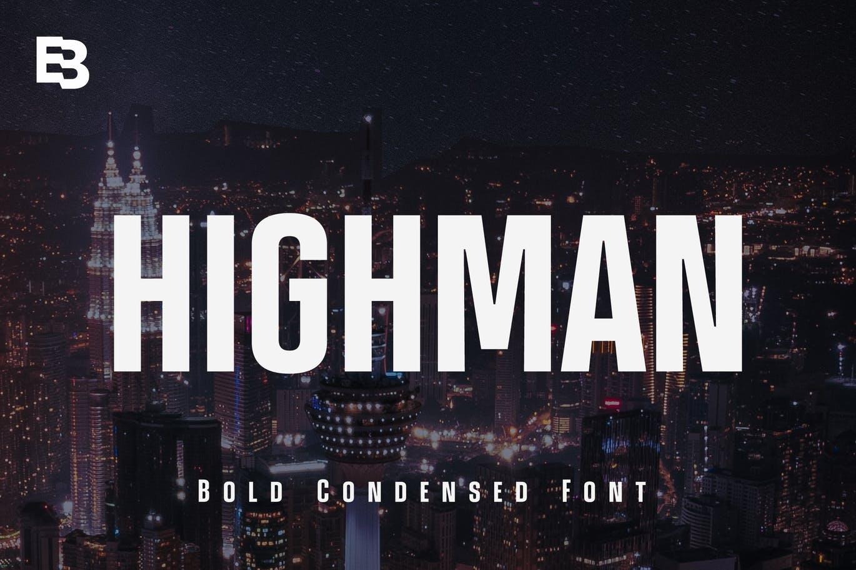 Highman Bold Display Font -1