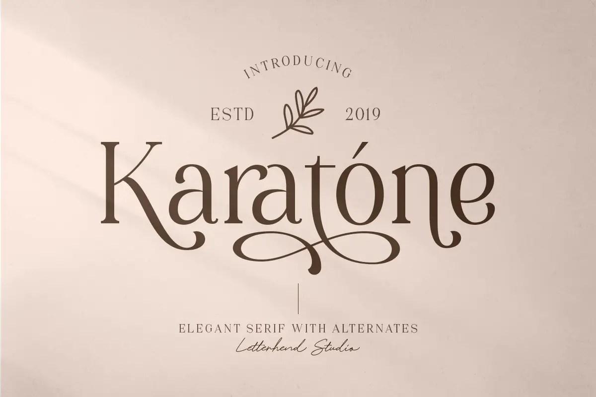 Karatone Elegant Serif Font -1