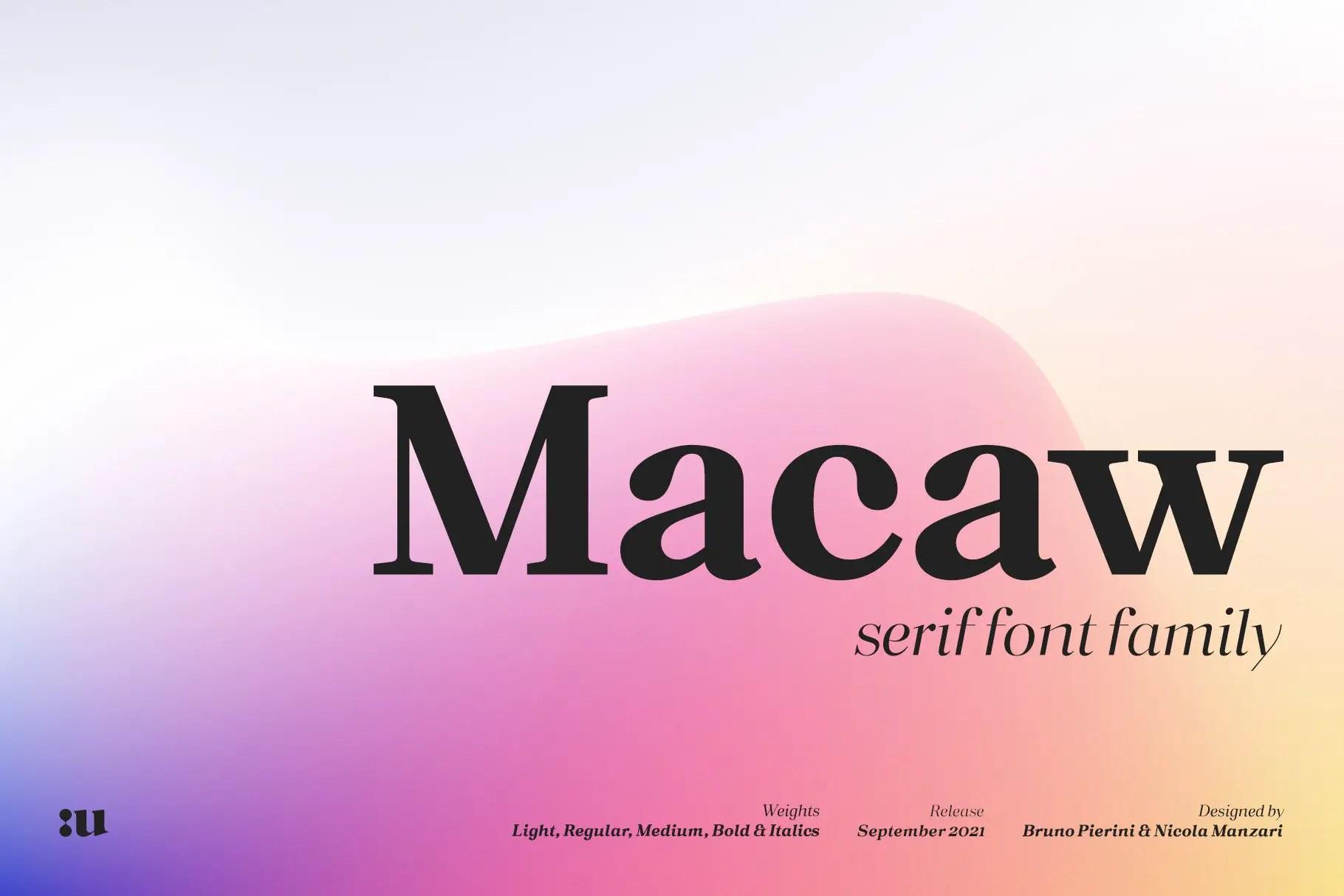 Macaw Modern Serif Typeface -1