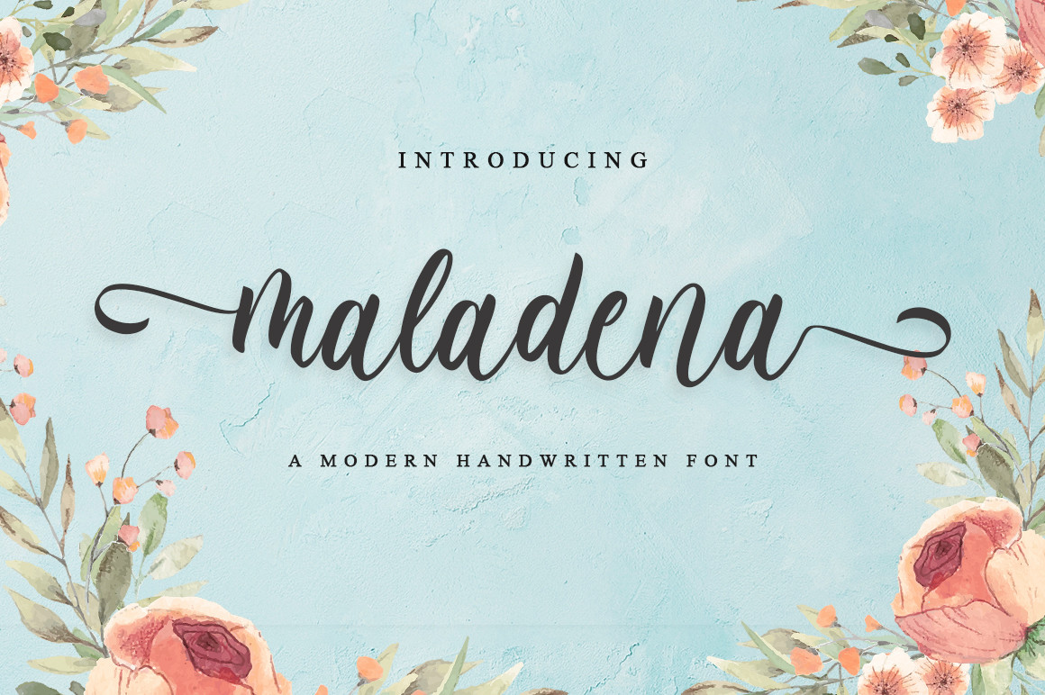 MaladenaModern Calligraphy Font -1