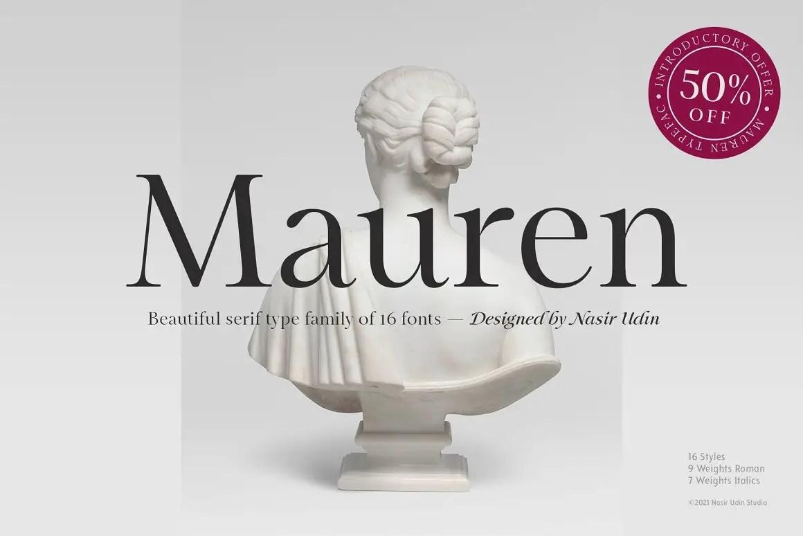 Mauren Serif Typeface -1