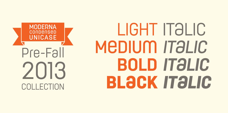 Moderna Condensed Sans Font -2