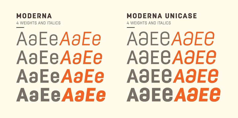 Moderna Condensed Sans Font -3