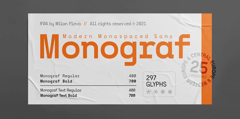 Monograf Bold Sans Serif Font -1