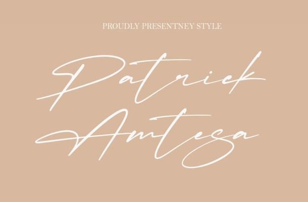 Patrick Amtesa Font