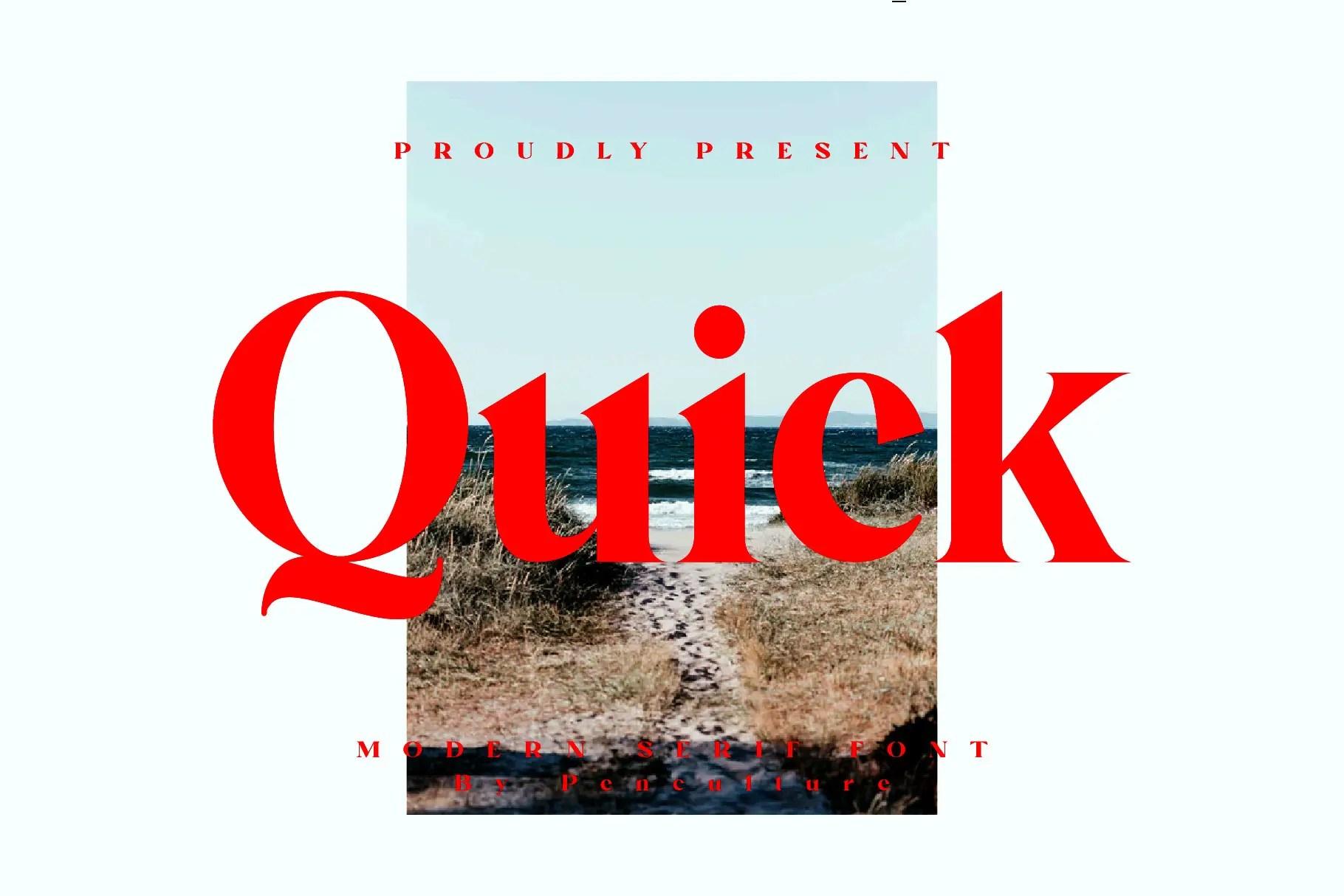 Quick Modern Serif Font -1
