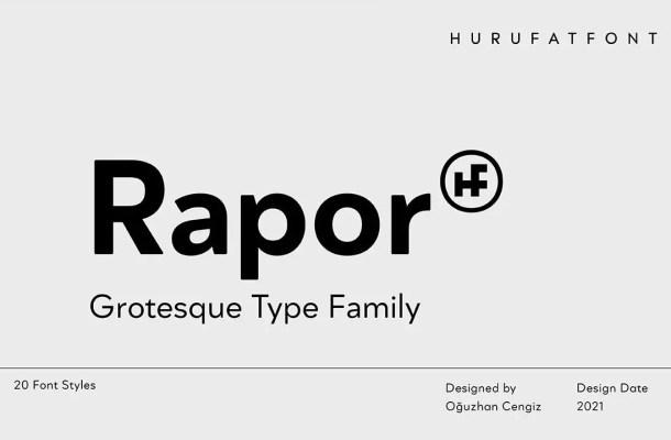 Rapor Font Family