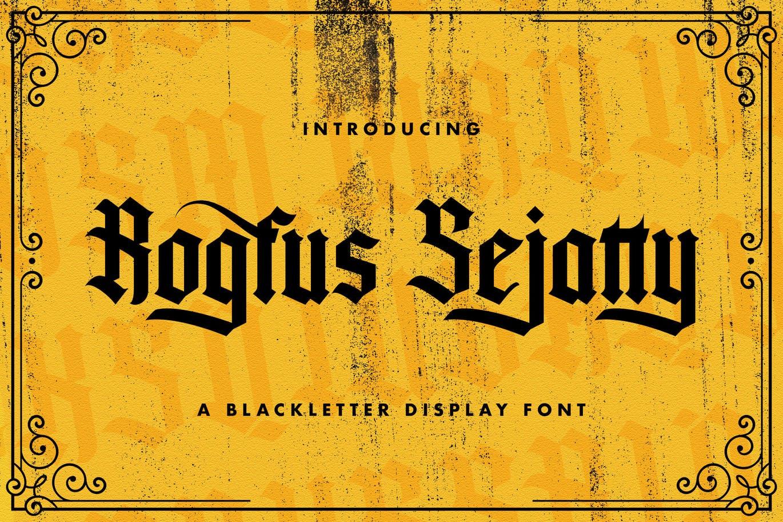 Rogfus Sejatty Blackletter Font -1