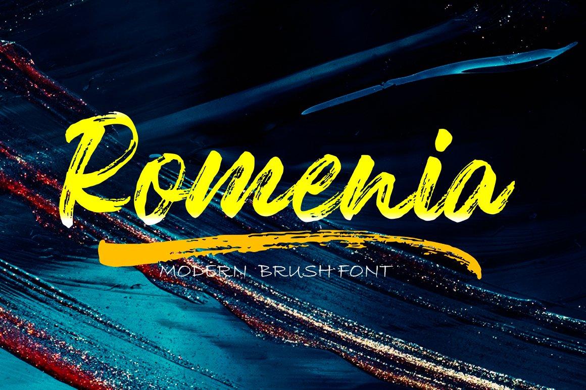 Romenia Brush Script Font -1