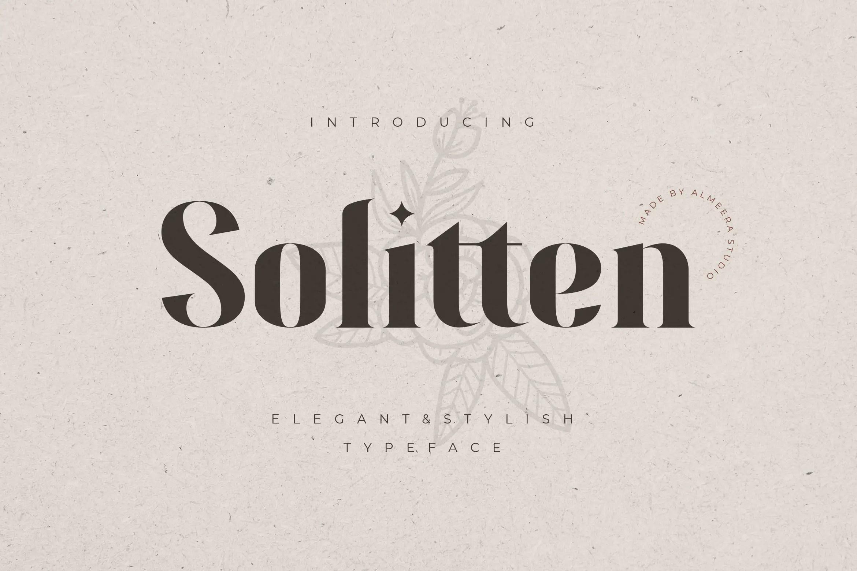Solitten Elegant Stylish Typeface -1
