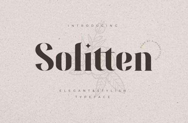 Solitten Font