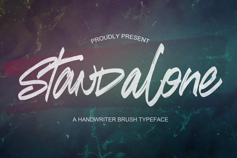 Standalone Brush Script Font -1
