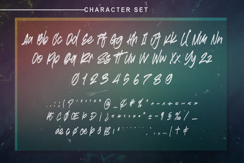 Standalone Brush Script Font -3