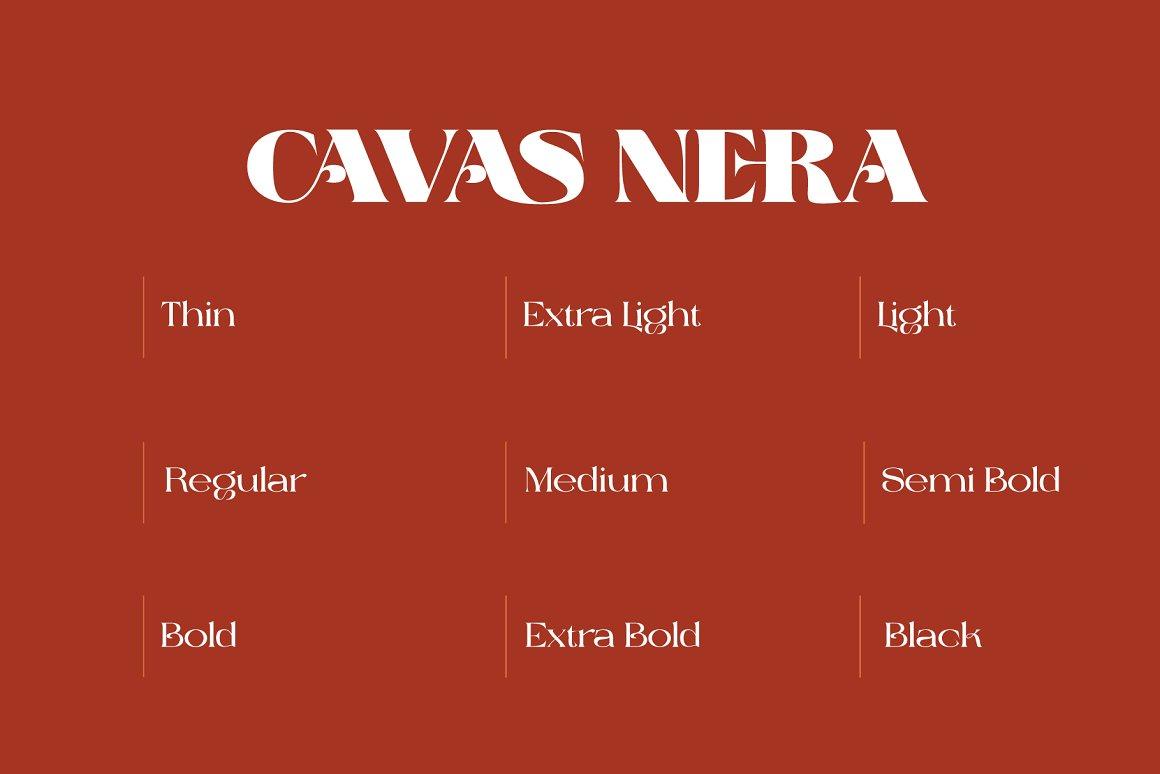 The Cavas Nera Serif Font -2