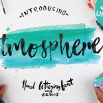 Atmosphere Brush Font + Bonus