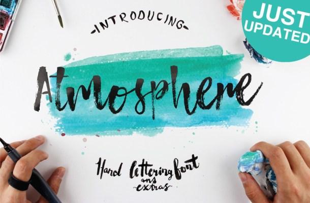 Atmosphere Brush Font + Bonus