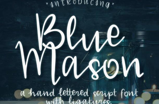 Blue Mason Script Font