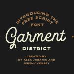 Garment District Monoline Script Font