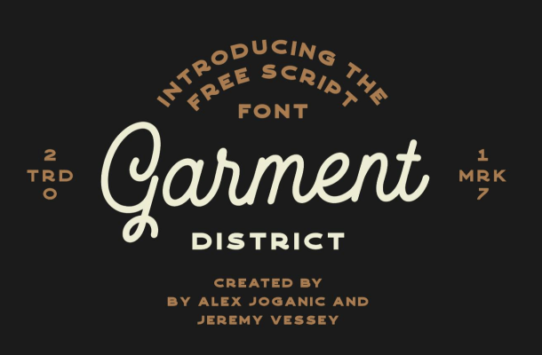 Garment District Monoline Script Font