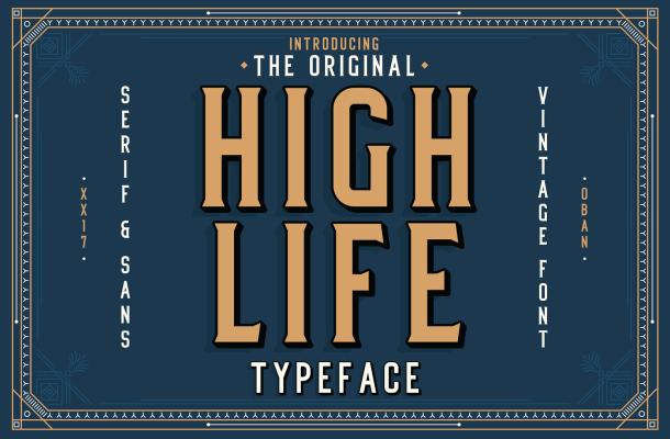 High Life Serif Font Free