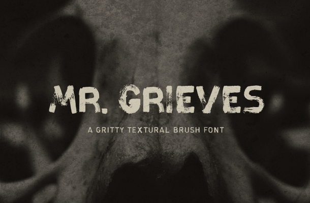 Mr. Grieves Hand Drawn Brush Font