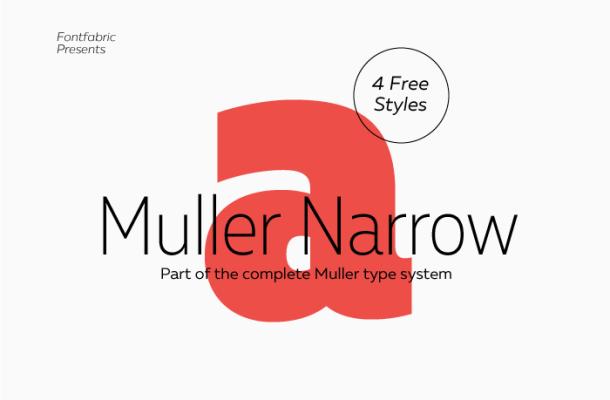 Muller Narrow Font Free